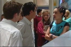 Tad Reeves, Paul McClain, Felicity Scully, Larissa Carlwell in Neighbours Episode 3816