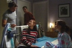 Drew Kirk, Karl Kennedy, Susan Kennedy, Libby Kennedy in Neighbours Episode 3818