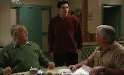 Harold Bishop, Paul McClain, Lou Carpenter in Neighbours Episode 3834