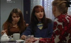 Maggie Hancock, Susan Kennedy, Libby Kennedy in Neighbours Episode 3836