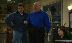Joe Scully, Harold Bishop, Lyn Scully in Neighbours Episode 3838