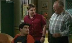 Paul McClain, Tad Reeves, Harold Bishop in Neighbours Episode 3840