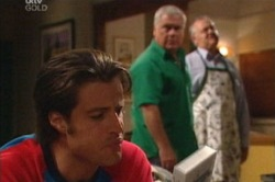 Drew Kirk, Harold Bishop, Lou Carpenter in Neighbours Episode 3844