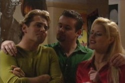 Joel Samuels, Toadie Rebecchi, Dee Bliss in Neighbours Episode 3848