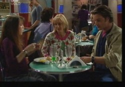 Maggie Hancock, Libby Kennedy, Drew Kirk in Neighbours Episode 3859
