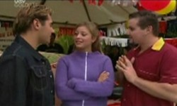 Joel Samuels, Felicity Scully, Toadie Rebecchi in Neighbours Episode 3864