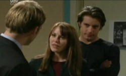 Tim Collins, Libby Kennedy, Drew Kirk in Neighbours Episode 3864