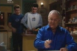 Tad Reeves, Paul McClain, Harold Bishop in Neighbours Episode 3866