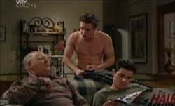 Harold Bishop, Tad Reeves, Paul McClain in Neighbours Episode 3870
