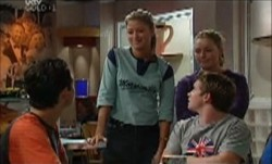 Paul McClain, Tad Reeves, Michelle Scully, Felicity Scully in Neighbours Episode 3871