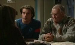 Libby Kennedy, Drew Kirk, Harold Bishop in Neighbours Episode 3873