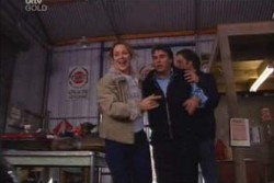 Steph Scully, Joe Scully, Drew Kirk in Neighbours Episode 3876