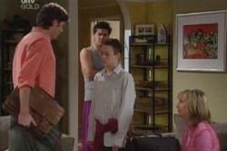 Evan Hancock, Matt Hancock, Leo Hancock, Maggie Hancock in Neighbours Episode 3880