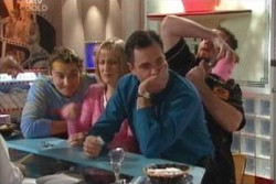 Joel Samuels, Maggie Hancock, Karl Kennedy, Toadie Rebecchi in Neighbours Episode 3880