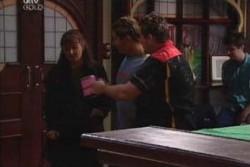 Susan Kennedy, Joel Samuels, Toadie Rebecchi in Neighbours Episode 3881