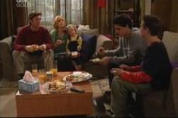 Evan Hancock, Maggie Hancock, Emily Hancock, Matt Hancock, Leo Hancock in Neighbours Episode 3885