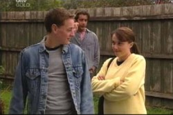 Dougal Kirk, Drew Kirk, Libby Kennedy in Neighbours Episode 3885