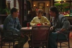 Dougal Kirk, Libby Kennedy, Drew Kirk in Neighbours Episode 3885