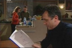 Libby Kennedy, Dougal Kirk, Karl Kennedy in Neighbours Episode 3887