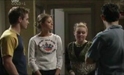 Tad Reeves, Felicity Scully, Michelle Scully, Paul McClain in Neighbours Episode 3891