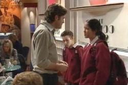 Evan Hancock, Leo Hancock, Tawnee Beckett in Neighbours Episode 3894