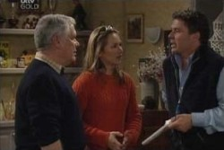 Lou Carpenter, Steph Scully, Joe Scully in Neighbours Episode 3895