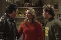 Joe Scully, Steph Scully, Joel Samuels in Neighbours Episode 3895