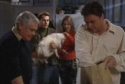 Lou Carpenter, Joel Samuels, Bob, Steph Scully, Joe Scully in Neighbours Episode 3895