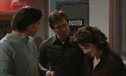 Drew Kirk, Darcy Tyler, Lyn Scully in Neighbours Episode 3900