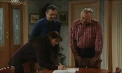 Susan Kennedy, Karl Kennedy, Harold Bishop in Neighbours Episode 3903