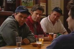 Joe Scully, Evan Hancock, Karl Kennedy in Neighbours Episode 3905