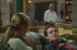 Felicity Scully, Tad Reeves, Harold Bishop in Neighbours Episode 3907