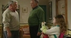 Lou Carpenter, Harold Bishop, Louise Carpenter (Lolly) in Neighbours Episode 3910