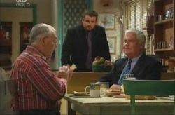 Toadie Rebecchi, Lou Carpenter, Harold Bishop in Neighbours Episode 3915