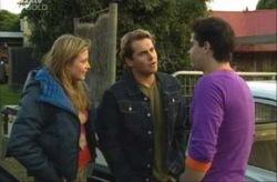 Felicity Scully, Joel Samuels, Matt Hancock in Neighbours Episode 3917