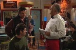 Joe Scully, Evan Hancock, Harold Bishop in Neighbours Episode 3925