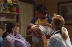 Libby Kennedy, Ben Kirk, Drew Kirk, Dee Bliss in Neighbours Episode 3926