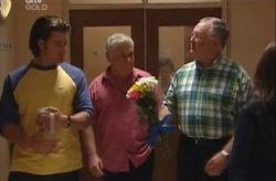 Drew Kirk, Lou Carpenter, Harold Bishop in Neighbours Episode 3926