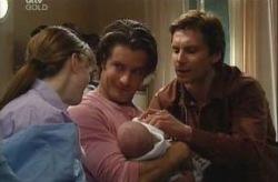 Libby Kennedy, Drew Kirk, Ben Kirk, Darcy Tyler in Neighbours Episode 3926