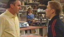 Karl Kennedy, Janae Timmins, Boyd Hoyland in Neighbours Episode 4892