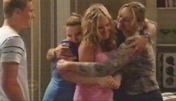 Boyd Hoyland, Bree Timmins, Janae Timmins, Janelle Timmins in Neighbours Episode 4892