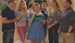 Boyd Hoyland, Janae Timmins, Bree Timmins, Stingray Timmins, Janelle Timmins, Kim Timmins in Neighbours Episode 4893