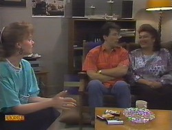 Sally Wells, Tony Romeo, Mrs Romeo in Neighbours Episode 0646