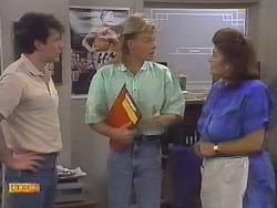 Tony Romeo, Scott Robinson, Mrs Romeo in Neighbours Episode 0647
