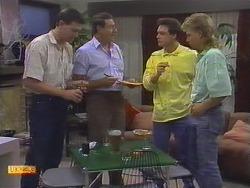 Des Clarke, Malcolm Clarke, Paul Robinson, Scott Robinson in Neighbours Episode 0648
