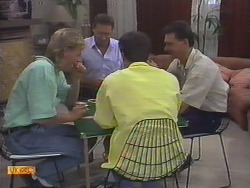 Scott Robinson, Malcolm Clarke, Paul Robinson, Des Clarke in Neighbours Episode 0649