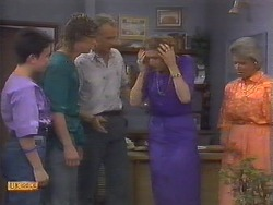 Lucy Robinson, Henry Ramsay, Jim Robinson, Madge Bishop, Helen Daniels in Neighbours Episode 0649