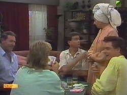 Malcolm Clarke, Scott Robinson, Des Clarke, Eileen Clarke, Paul Robinson in Neighbours Episode 0649