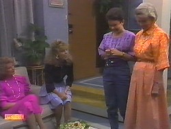 Madge Bishop, Charlene Mitchell, Lucy Robinson, Helen Daniels in Neighbours Episode 0649