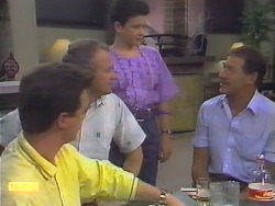 Paul Robinson, Jim Robinson, Lucy Robinson, Malcolm Clarke in Neighbours Episode 0649